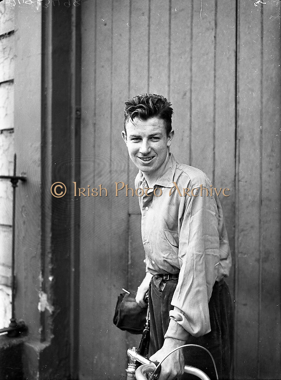 Shea Elliott, Cyclist with the Dublin Wheelers.19/07/1953