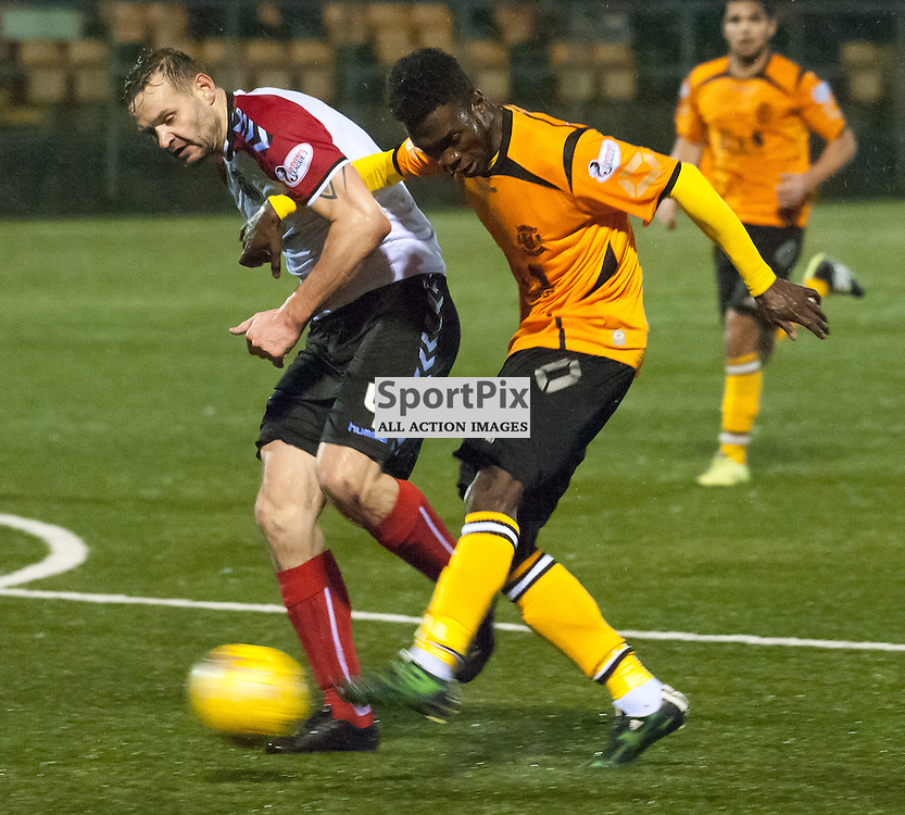 Smart Osadolor (Annan Athletic) scores for 2-3 ¥ Annan Athletic v Clyde ¥ Ladbrokes League 2 ¥ 26 December 2015 ¥ © Russel Hutcheson | SportPix.org.uk