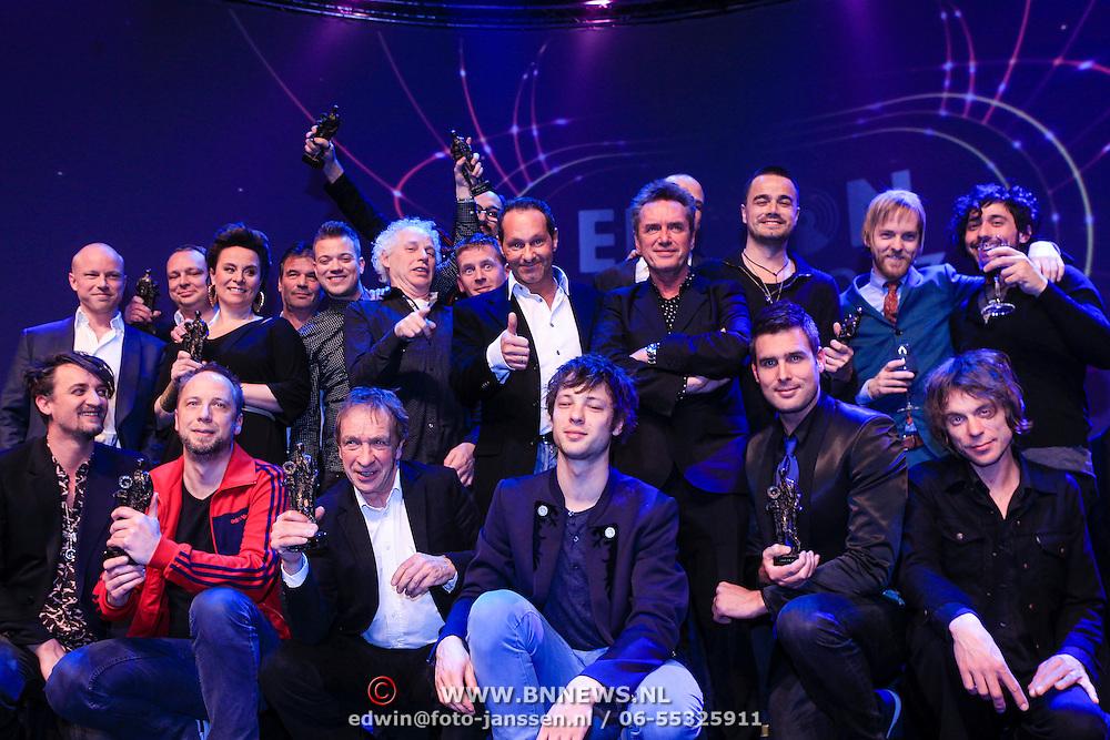 NLD/Amsterdam/20130211- Uitreiking Edison Pop 2013, alle prijswinnaars