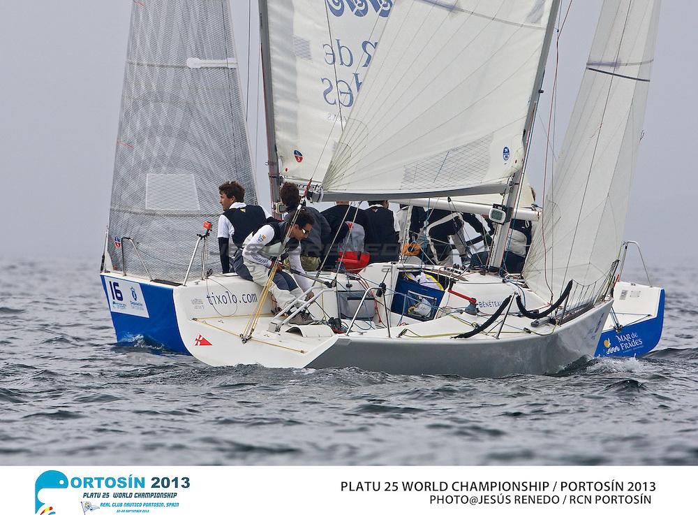 Platu 25 World Championships, Portosín , Galicia, Spain. 24-29 September 2013 . Day 1 ©