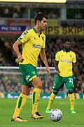 Norwich City striker Nelson Oliveira (9) during the EFL Sky Bet Championship match between Norwich City and Burton Albion at Carrow Road, Norwich, England on 12 September 2017. Photo by Richard Holmes.