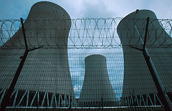 CZECH REPUBLIC TEMELIN JUL00 - General view of the cooling towers of the nuclear power plant Temelin the southern Bohemia. Despite vehement and sustained protests from both environmental groups at home and abroad, the Czech government persist on completing the fourth reactor of the plant.  Neighbouring cournties Austria and Germany have expressed concerns about the outdated technology..and security measures applied inside the reactor. jre/Photo by Jiri Rezac....© Jiri Rezac 2000....Tel:   +44 (0) 7050 110 417..Email: info@jirirezac.com..Web:   www.jirirezac.com