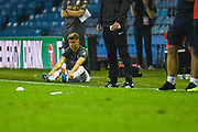 Leeds United defender Ezgjan Alioski (10) during the penalty shoot out during the EFL Cup match between Leeds United and Stoke City at Elland Road, Leeds, England on 27 August 2019.