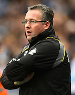 Picture by Paul Chesterton/Focus Images Ltd.  07904 640267.03/12/11.Norwich Manager Paul Lambert before the Barclays Premier League match at the Etihad Stadium, Manchester.
