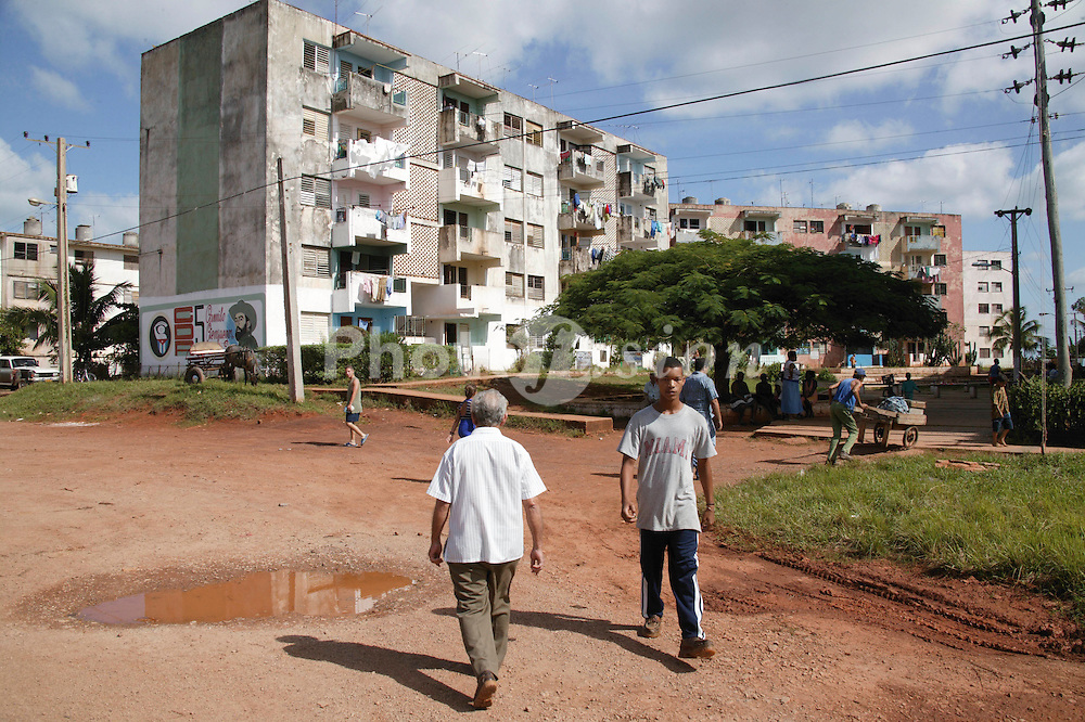 People and housing at Santa Lucia; Pinar Province; Cuba,