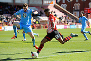 Exeter City's Jamie Reid during the Sky Bet League 2 match between Exeter City and Morecambe at St James' Park, Exeter, England on 30 April 2016. Photo by Graham Hunt.