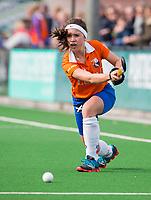 BLOEMENDAAL - hockey - Competitie Landelijk meisjes : Bloemendaal MB1-Den Bosch MB1 (1-1). Florine van Willigenburg (Bl'daal) . COPYRIGHT KOEN SUYK