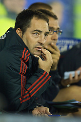 BIRKENHEAD, ENGLAND - Wednesday, October 21, 2009: Liverpool's Reserve Team Fitness Coach Gonzalo Rodriguez during the FA Premiership Reserves League (Northern Division) match against Sunderland at Prenton Park. (Photo by: David Rawcliffe/Propaganda)
