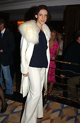 Fashion designer MARIA GRACHVOGEL at a party to celebrate the re-launch of the Polo bar at The Westbury Hotel, Bond Street, London W1 on 26th April 2005.<br />