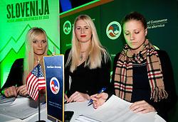 NZS Meeting of friends of USA and NZS sponsors a day before football match between Slovenia's and U.S. team, on November 14, 2011 in Kristalna dvorana, Ljubljana, Slovenia. (Photo By Vid Ponikvar / Sportida.com)