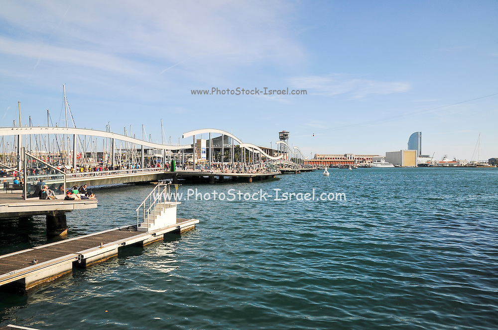 Barcelona marina and harbour, Spain