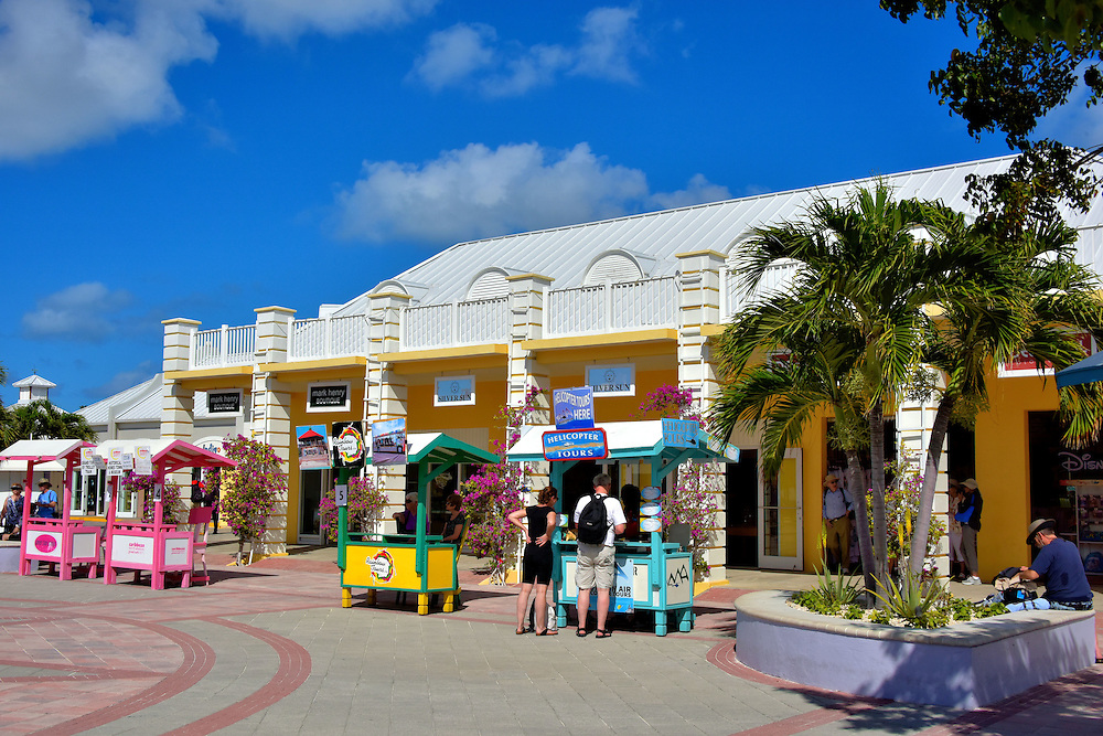 shopping at cruise center in grand turk turks and caicos