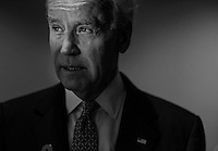ROCKVILLE, MD - MARCH 13:  Vice President Joe Biden takes a quiet moment backstage before speaking to lawmakers, woman against violence advocates, and constituents concerning reducing domestic violence homicides in Rockville, Maryland, on Wednesday, March 13, 2013. (Photo by Melina Mara/The Washington Post)