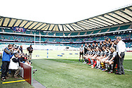 Picture by Andrew Tobin/Focus Images Ltd +44 7710 761829.26/05/2013.Barbarians team lineup during the match between England and the Barbarians at Twickenham Stadium, Twickenham.