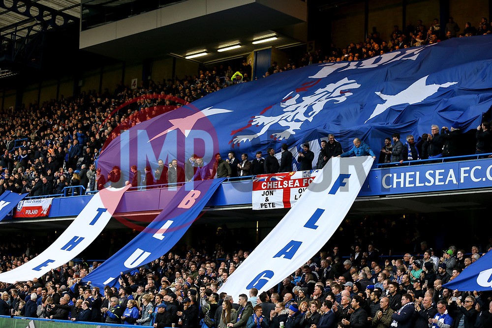 Chelsea fans fly the flags - Mandatory by-line: Jason Brown/JMP - 08/05/17 - FOOTBALL - Stamford Bridge - London, England - Chelsea v Middlesbrough - Premier League