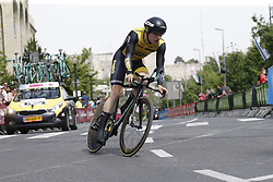 May 4, 2018 - Jerusalem, ISRAEL - Belgian Gijs Van Hoecke of Team LottoNL-Jumbo pictured in action during the first stage of the 101st edition of the Giro D'Italia cycling tour, an individual time trial (9,7km) in Jerusalem, Israel, Friday 04 May 2018...BELGA PHOTO YUZURU SUNADA FRANCE OUT (Credit Image: © Yuzuru Sunada/Belga via ZUMA Press)