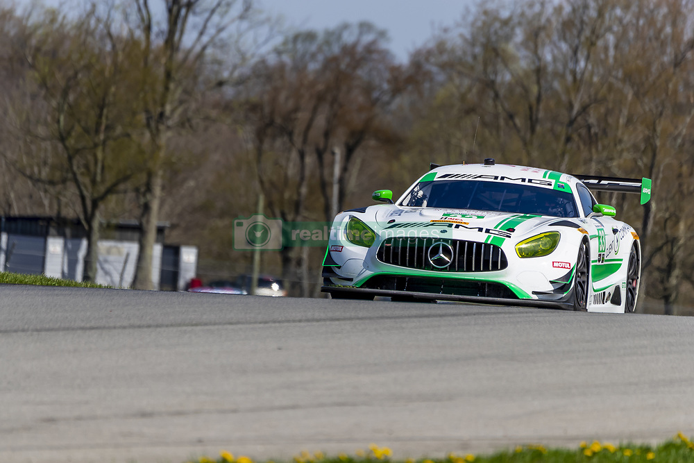 May 4, 2018 - Lexington, Ohio, United States of America - The Mercedes-AMG Team Riley Motorsports Mercedes-AMG GT3 races through the turns at the Acura Sports Car Challenge at Mid Ohio Sports Car Course in Lexington, Ohio. (Credit Image: © Walter G Arce Sr Asp Inc/ASP via ZUMA Wire)