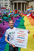Peter Tatchell  - The annual London Gay Pride march heads from Oxford Circus to Trafalgar Square.