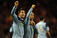 Football - Capital One Cup fourth round - Sunderland vs. Middlesbrough<br /> Scott McDonald and Emmanuel Ledesma (Middlesbrough) celebrate the goal at the Stadium of Light