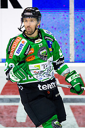 "25.03.2014, Hala Tivoli, Ljubljana, SLO, EBEL, HDD Telemach Olimpija Ljubljana vs HC TWK Innsbruck ""Die Haie"", 76th Game Day, in picture Anze Ropret (HDD Telemach Olimpija, #29) celebrates after scoring a goal during the Erste Bank Icehockey League 76th Game Day match between HDD Telemach Olimpija Ljubljana and HC TWK Innsbruck ""Die Haie"" at the Hala Tivoli, Ljubljana, Slovenia on 2014/03/25. (Photo By Matic Klansek Velej / Sportida)"