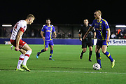 Alex Gudger in action during the The FA Cup match between Solihull Moors and Rotherham United at the Automated Technology Group Stadium, Solihull, United Kingdom on 2 December 2019.