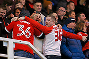 Middlesbrough fans during the EFL Sky Bet Championship match between Middlesbrough and Ipswich Town at the Riverside Stadium, Middlesbrough, England on 29 December 2018.