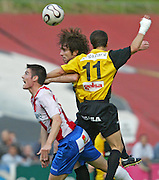2008. Abril, 25th. Partido de playoff ascenso a segunda división A disputado entre el Girona F.C. como equipo local y el Barakaldo..COPYRIGHT: TONI VILCHES FOTOGRAFIA.