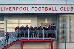 LIVERPOOL, ENGLAND - Tuesday, January 11, 2011: Liverpool's new manager Kenny Dalglish watches the reserve side in action against Sunderland during the FA Premiership Reserves League (Northern Division) match at the Kirkby Academy. (Pic by: David Rawcliffe/Propaganda)