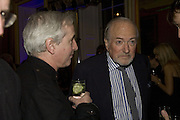HUGO VICKERS AND CLAUS VON BULOW, The Literary Review Bad sex in Fiction Award 2007. The In and Out Naval and Military Club. St. James's Sq. London. 27 November 2007. -DO NOT ARCHIVE-© Copyright Photograph by Dafydd Jones. 248 Clapham Rd. London SW9 0PZ. Tel 0207 820 0771. www.dafjones.com.
