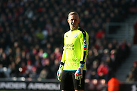 Football - 2016 / 2017 Premier League - Southampton vs. Leicester City<br /> <br /> Kasper Schmeichel of Leicester City at St Mary's Stadium Southampton England<br /> <br /> COLORSPORT/SHAUN BOGGUST