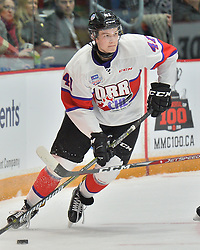 Riley Sutter of the Everett Silvertips represents Team Or r in the 2018 Sherwin-Williams CHL / NHL Top Prospects Game held in Guelph,ON on Thursday January 25. Photo by Terry Wilson / CHL Images.