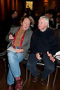 RICHARD WILSON, The launch party of HiBrow and A Mighty Big If. ÊThe Crypt. St. Martins in the Fields. London. 24 January 2012<br /> RICHARD WILSON, The launch party of HiBrow and A Mighty Big If.  The Crypt. St. Martins in the Fields. London. 24 January 2012