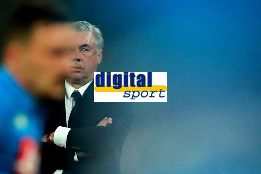 Carlo Ancelotti Napoli<br /> Napoli 24-09-2018  Stadio San Paolo <br /> Football Campionato Serie A 2018/2019 <br /> Napoli - Parma<br /> Foto Cesare Purini / Insidefoto