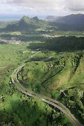 Pali Highway, Oahu, Hawaii<br />