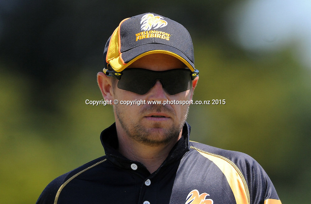 Wellington Firebird's Michael Papps in the Ford Trophy One Day cricket match, Knights v Firebirds, Bay Oval, Mt Maunganui, Thursday, January 01, 2015. Photo: Kerry Marshall / photosport.co.nz