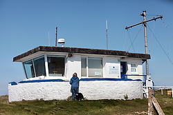 Covid 19 - Coastguard station closed due to Coronavirus, St Aldhelm's Head Dorset. UK April 2020