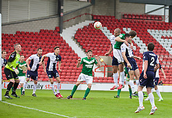 WREXHAM, WALES - Saturday, May 3, 2014: The New Saints' Philip Baker heads the ball clear during the Welsh Cup Final against Aberystwyth Town at the Racecourse Ground. (Pic by David Rawcliffe/Propaganda)