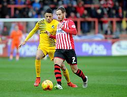 Daniel Leadbitter of Bristol Rovers challenges Ryan Harley of Exeter City - Mandatory byline: Neil Brookman/JMP - 28/11/2015 - FOOTBALL - ST James Park - Exeter, England - Exeter City v Bristol Rovers - Sky Bet League Two