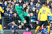 Everton goalkeeper Jordan Pickford (1) in action during the Premier League match between Everton and Arsenal at Goodison Park, Liverpool, England on 21 December 2019.