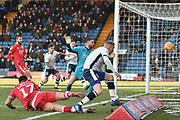 Bury Midfielder,  Nicky Adams (7) wins a corner during the EFL Sky Bet League 2 match between Bury and Crawley Town at the JD Stadium, Bury, England on 2 February 2019.