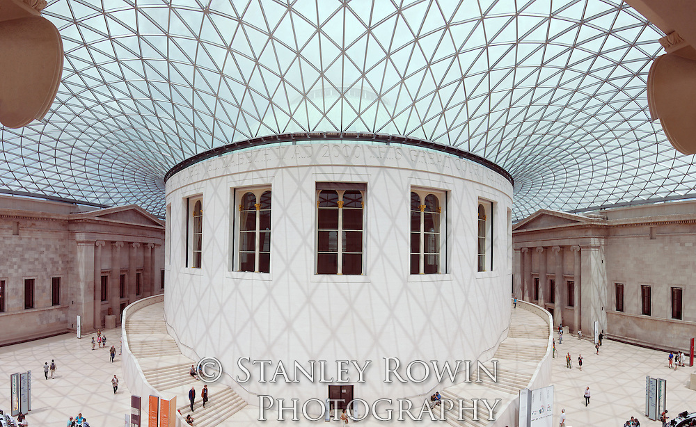 British Museum in London showing the Panorama of the interior of the Great Court
