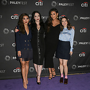"L to R: BRENDA SONG, KAT DENNINGS, SHAY MITCHELL, and ESTHER POVITSKY attend the Hulu Presentation of ""Dollface"" at the 2019 PaleyFest Fall TV Previews at the Paley Center for Media in Beverly Hills, California."