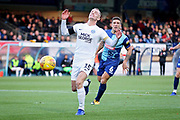 Peterborough United midfielder Joe Ward (15) couldn't quite catch this through ball during the EFL Sky Bet League 1 match between Wycombe Wanderers and Peterborough United at Adams Park, High Wycombe, England on 3 November 2018.