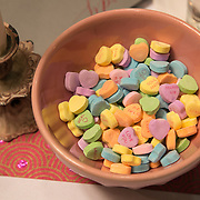 Sweet heart-shaped Valentine's candy in multiple colors.<br /> <br /> For all details about sizes, paper and pricing starting at $85, click &quot;Add to Cart&quot; below.