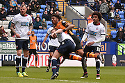 HUll City Forward, Chuba Akpom in action during the Sky Bet Championship match between Bolton Wanderers and Hull City at the Macron Stadium, Bolton, England on 30 April 2016. Photo by Mark Pollitt.