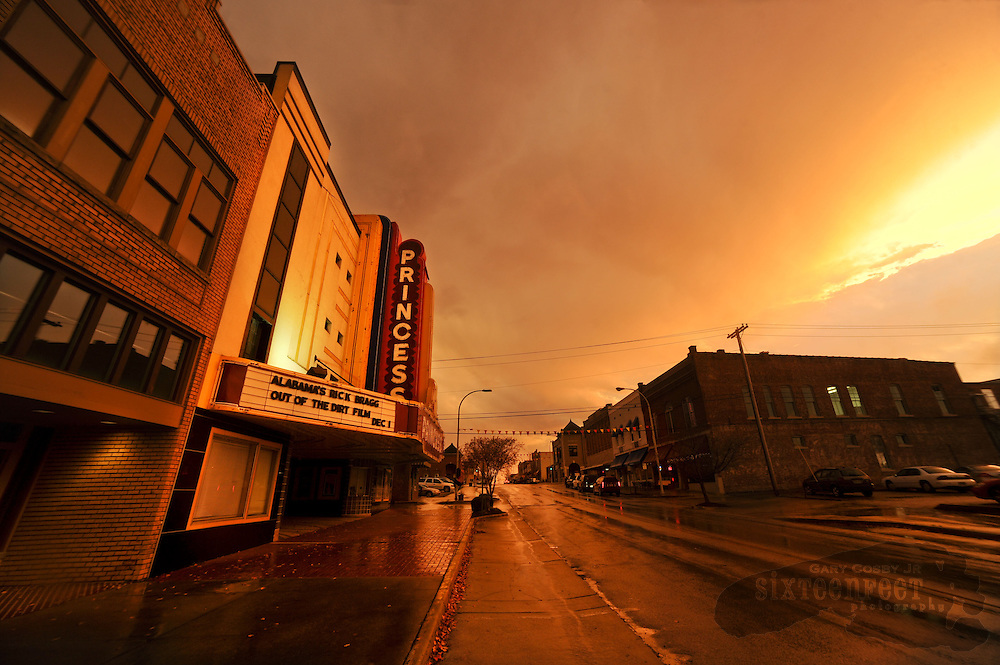 Photo by Gary Cosby Jr.      What treasure lies at the end of a rainbow?  For a photographer it is golden light.  Tuesday, as the sun was setting, a rainbow appeared in the skies framing downtown Decatur.  The afterglow left 2nd Avenue bathed in amber.