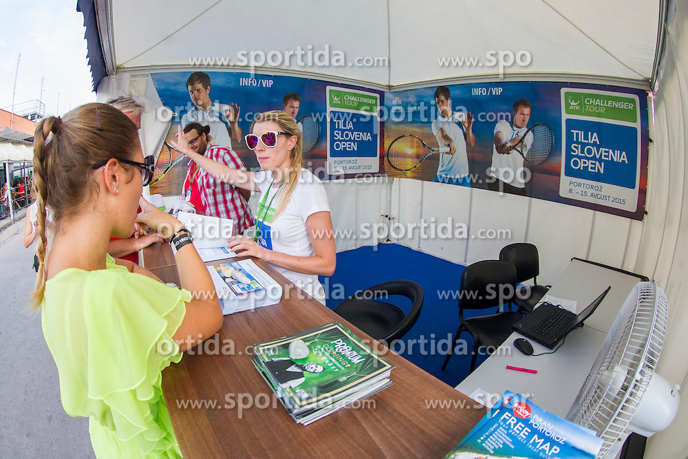 During Day 6 of ATP Challenger Tilia Slovenia Open 2015 on August 14, 2015 in Tennis stadium SRC Marina, Portoroz / Portorose, Slovenia. Photo by Urban Urbanc / Sportida