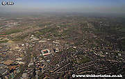 aerial photograph of Highfield   Sheffield West Yorkshire England UK
