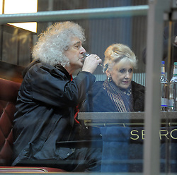 Brian May and Anita Dobson at the Tiger Tracks event to raise funds for the Save Wild Tigers initiative at St Pancras Station in London, UK. 02/03/2013<br />BYLINE MUST READ : GOTCHAIMAGES.COM<br /><br />Copyright by © Gotcha Images Ltd. All rights reserved.<br />Usage of this image is conditional upon the acceptance <br />of Gotcha Images Ltd, terms and conditions available at<br />www.gotchaimages.com