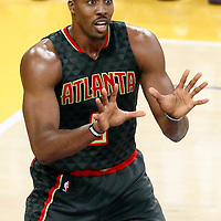 27 November 2016: Atlanta Hawks center Dwight Howard (8) calls for the ball during the Los Angeles Lakers 109-94 victory over the Atlanta Hawks, at the Staples Center, Los Angeles, California, USA.